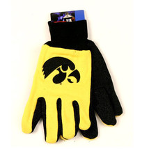 NCAA Iowa Hawkeyes Sport Garden Utility Grip Gloves  Team Color  Logo Yellow - $6.39