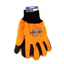 NCAA Oklahoma State Sport Gloves Garden Utility Grip Team Cowboys Logo Orange - $6.39
