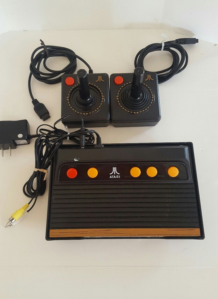 Atari flashback 3 classic game console with two controllers cables 60 games systems - Atari flashback 3 classic game console ...