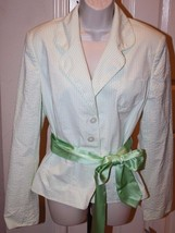 INC International Concepts $99 Green Wht Seersucker Striped Blazer Jacket NWT XL - $39.99