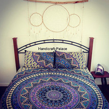 Indian Psychedelic Mandala Tapestry Bedspread Hippie Bedding Set Gypsy B... - $17.46
