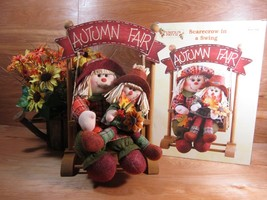 New Pumpkin Patch Scarecrows In A Swing Fall Holiday Decor Sale #265774 - $6.76