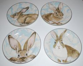 Williams Sonoma Damask Bunny Salad Plates Set 4... - $74.20