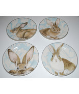 Williams Sonoma Damask Bunny Salad Plates Set 4... - $74.20
