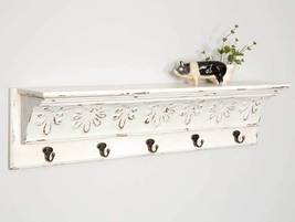 Bisque Shelf with Five Hooks - $69.99