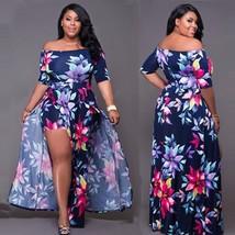 Plus Size Women Dress Long Evening Cocktail Party Sleeve Beach Dresses W... - $21.99