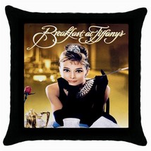 NEW Audrey Hepburn Black Cushion Cover Throw Pillow Case - $15.00