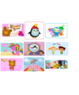 9 Babys First Tv Peekaboo inspired Stickers, Party, Favors, Labels, Birt... - $8.99