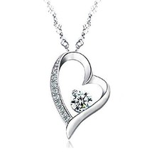 Valentines Day Gift For Her Girl Girls Necklace Pendant Sterling Silver ... - $46.15