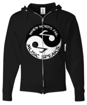 Ying-Yang Music - Zip Hoodie - FREE Shipping! - $47.95