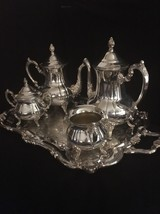Vintage Towel Silver-plate 5 Piece Tea Set With... - $149.99