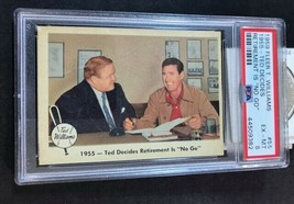 1959 Fleer #55 Ted Williams-Decides No Retirement - PSA 6 EX-MT - $14.80