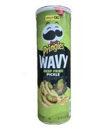 Pringles Deep Fried Pickle Wavy Potato Chips Limited Edition NEW - $12.99