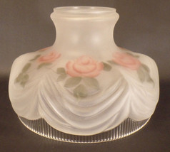 """10"""" Coleman # 322 Style Inside Hand Painted Roses Glass Lamp Shade fits ... - $155.94"""