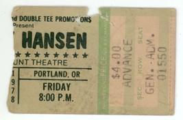 RARE Randy Hansen 11/17/78 Portland OR Concert ... - $12.19
