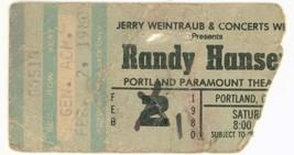 RARE Randy Hansen 2/1/80 Portland OR Concert Ti... - $12.19