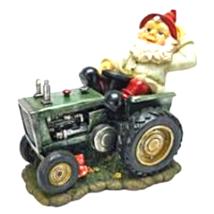Pete on His Tractor Garden Gnome Statue - $59.00