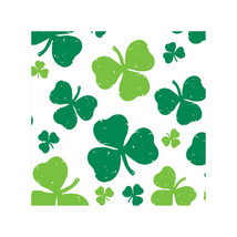 St Pat St Patricks Day Fun Tablecover Plastic Party Shamrock Clover - $6.64