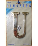 "Taymor Concepts 27-BL6U Solid Brass 6"" House Letter U - $3.96"