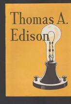 Thomas A Edison Benefactor of Mankind Booklet John Hancock Insurance  - $14.03