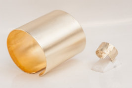 Jewelry Set, One pair of Wide Handmade Cuff Ban... - $28.00