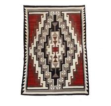 GANADO Wool Rug LRG 5.5' x 8' Hand Woven Vintage 1940s/50s Navajo Style - $3,650.00