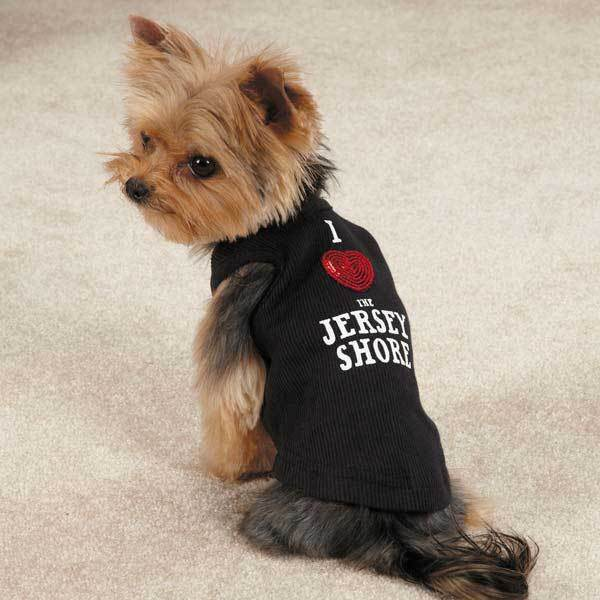 Casual Canine I Love Jersey Shore Tee Shirt - Black XS