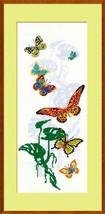 Cross Stitch Kit Riolis Animals Exotic Butterflies - $27.00
