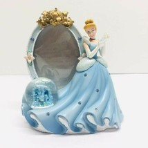 Vintage Disney princess Castle Picture Frame with Mini Snowglobe New without Box - $20.78