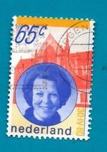Netherlands (used postage stamp) 1981 Queen Beatrix Scott Cat # 608 - $1.99