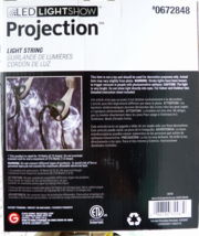 LED Light Show PROJECTION Light String Set of 8 White/Green Wire - £20.32 GBP
