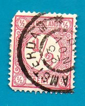 Netherlands (used postage stamp) 1876 New Daily Stamps (Rose) #30 - $1.99