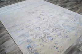 "4x6 (3'6"" x 5'6"") Nourison Symphony Modern Antique Blue Gray Wool Silk A... - $439.00"