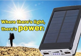 Black 80000mAh Dual USB Portable Solar Battery Charger Power Bank For Ce... - $29.98