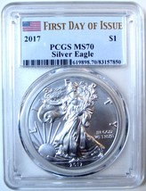 2017 $1 American Eagle. PCGS MS70 First Day of Issue. - $65.00