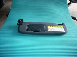 2004 HYUNDAI TIBURON LEFT BLACK DRIVER SIDE SUN VISOR WITH MIRROR - $35.00