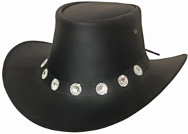 Bullhide Good Things Leather Aussie Cowboy Cowgirl Hat Waterproof  Black  - $63.00