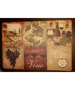WINE Theme PLACEMATS Set of 4 Vinyl Foam Vino winery vineyard grapes NEW - $18.49