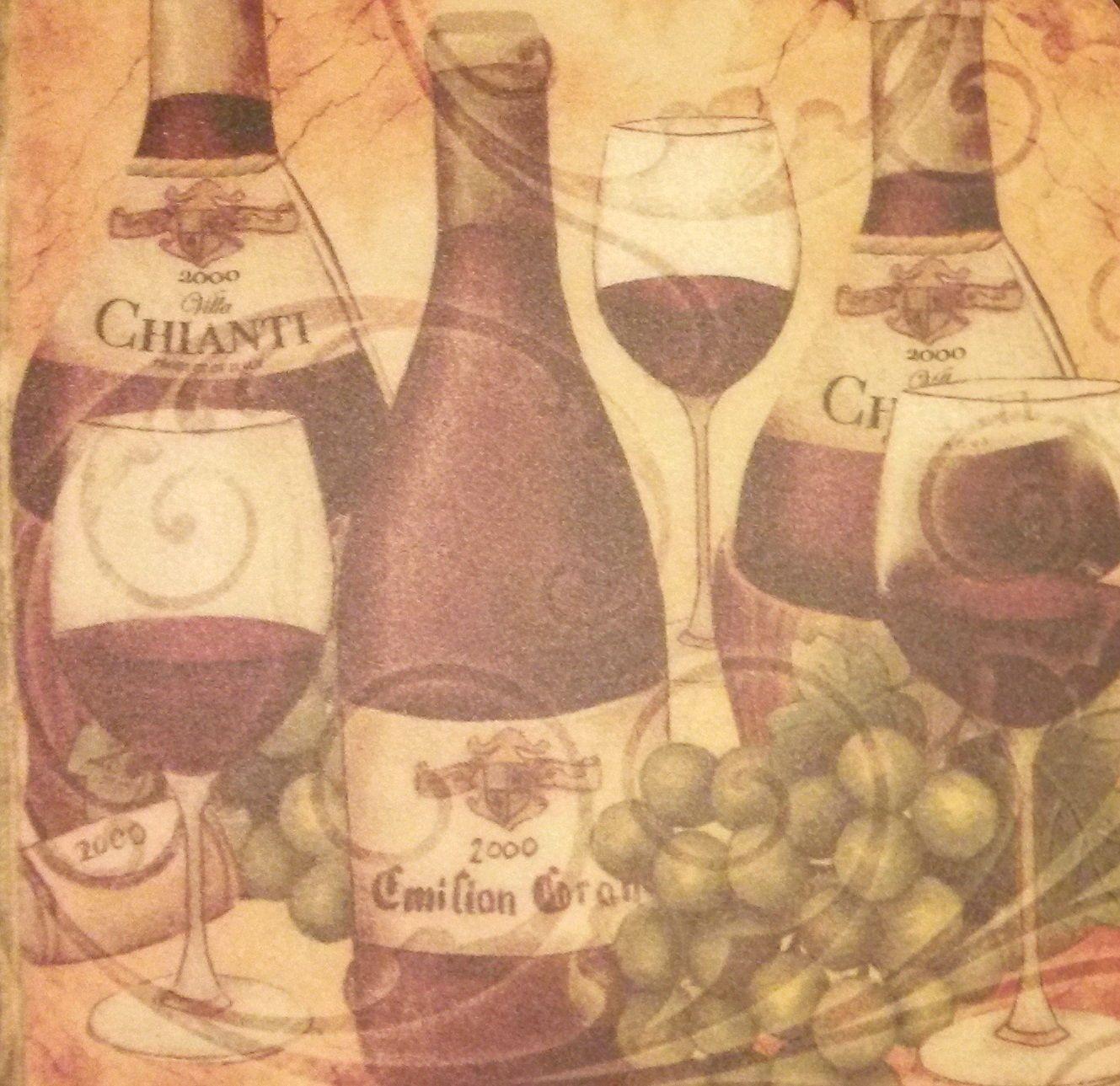 WINE Theme PLACEMATS Set of 4 Vinyl Foam Vino winery vineyard grapes NEW