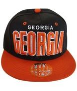 Georgia Men's Adjustable Snapback Baseball Cap Hat Black/Red - $11.95