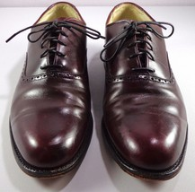 Cole Haan Mens Brown Calfskin Leather Plain Toe Oxfords size 8.5 D USA Made - $99.95