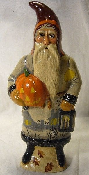 Vaillancourt Folk Art Haunted Village Santa Halloween Personally Signed by Judi!