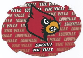 """NCAA Louisville Cardinals 5""""x6"""" Officially Licensed Team Color Swirl Magnet - $6.95"""