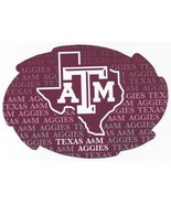 "NCAA Texas A&M Aggies 5""x6"" Officially Licensed Team Color Swirl Magnet - $6.95"