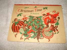 CHRISTMAS TIME SANTA POP-UP CHRISTMAS IN ACTION BOOK VINTAGE 1949 - $19.79