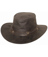 Bullhide Hobart Crushable Leather Aussie Crown ... - $60.00