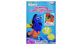 Finding Dory Valentine Card & Lolipop Kit 12 Cards and Pops - $3.95