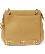 AUTHENTIC 1991-1994 CHANEL VINTAGE GOLD CAVIAR ... - $1,250.00