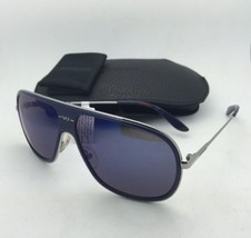 New Sunglasses CARRERA 88/S 8ETXT 62-12 Silver-Blue Frame w/Grey+Blue Sky Mirror