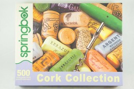 """Springbok 500 Piece Jigsaw Puzzle """"Cork Collection"""" Wine 2010 Made in USA - $12.13"""